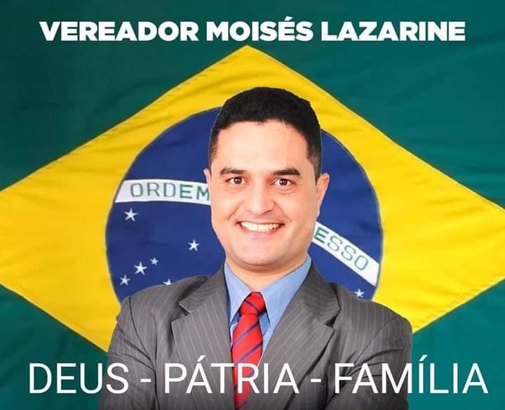 Vereador Moisés Lazarine (PSL) destinou verba pública para serviços em igreja que não foram prestados. Empresa é obrigada pelo MP a devolver recursos.